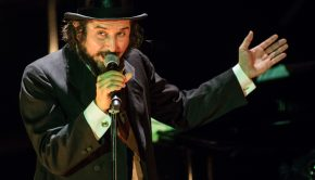 "Milan Italy. 12th December 2015. The Italian singer-songwriter and writer VINICIO CAPOSSELA performs live on stage at Teatro Dal Verme celebrating 15 years since his album ""Canzoni A Manovella"" one of his most important albums."
